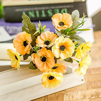 Fleurs artificielles 3 Une succursale Classique Mariage Fleurs de mariage Fleurs éternelles Coquelicot Fleur de Table