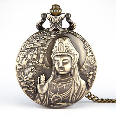 baratos Relógios Homem-Homens Relógio de Bolso Quartzo Bronze Criativo Relógio Casual Analógico Vintage Desenho - Bronze