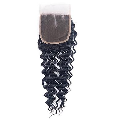 billige Parykker af ægte menneskerhår-1 Bundle Brasiliansk hår Dyb Bølge 100% Remy Hair Weave Bundles Menneskehår, Bølget Hårforlængelse af menneskehår 8-20inch Naturlig Farve Menneskehår Vævninger Nyfødt Vandfald Nuttet Menneskehår