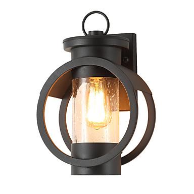 저렴한 실외 조명-1 개 5 W 야외 벽 조명 방수 따뜻한 화이트 + 화이트 85-265 V 실외 조명 1 LED 비즈