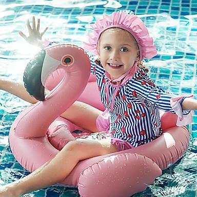 Tyttöjen Rashguard-uimapuku Uima-asut UV-aurinkosuojaus Tuulenkestävä Pitkähihainen 3-osainen - Uinti Sukellus Maalaus Syksy Kevät Kesä / Elastinen / Lasten