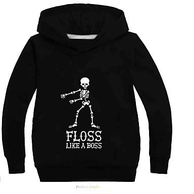 534a9b750ceb Kids Boys' Active / Basic Print Long Sleeve Cotton / Spandex Hoodie &  Sweatshirt Gray