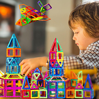 Недорогие Магнитный конструктор-Магнитный конструктор Магнитные плитки Магнитные игрушки 30 pcs совместимый Legoing Магнитный Мальчики Девочки дети Игрушки Подарок / Конструкторы