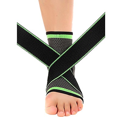 ffe9ea41425c Ankle Sleeve for Running Fitness Non-Slip Elasticity Unisex Nylon 1 Piece  Daily Wear Athleisure Green