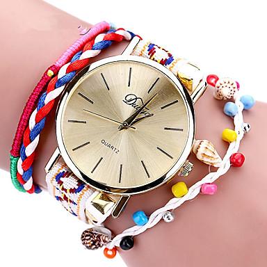 baratos Relógios Senhora-Mulheres Relógios de Quartzo Clássica Boêmio Preta Branco Azul Tecido Chinês Quartzo Branco Preto Rosa Novo Design Relógio Casual 1 Pça. Analógico Um ano Ciclo de Vida da Bateria