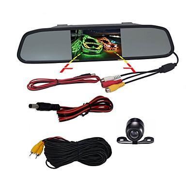 voordelige Automatisch Electronica-BYNCG WG4.3 4.3 inch(es) TFT-LCD 480TVL 480 TV-Lijnen 1/4 tuuman CMOS OV7950 Bekabeld 120 graden 1 pcs 120 ° 4.3 inch(es) Achteruitrijcamera / Auto-achteruitrijmonitor / Head Up Display Nacht Zicht