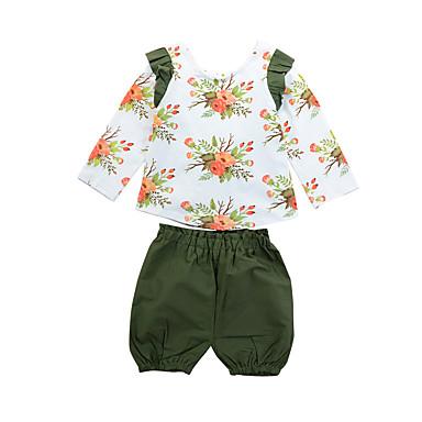 f5c082503 Kids Girls' Active Street chic Print Print Long Sleeve Regular Regular  Cotton Clothing Set Rainbow
