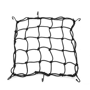 voordelige Auto-interieur accessoires-bagage cargo bungee net tas 6 haken fiets motorhelm mesh opbergtas (zwart) 40 * 40cm