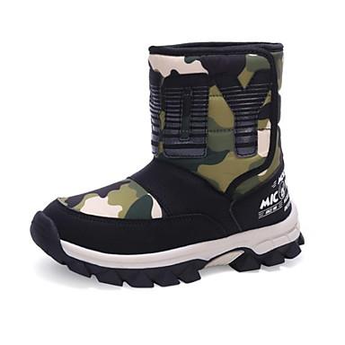 baratos Sapatos de Criança-Para Meninos Sintéticos Botas Little Kids (4-7 anos) / Big Kids (7 anos +) Botas de Neve Vermelho / Verde / Azul Outono & inverno / Côr Camuflagem