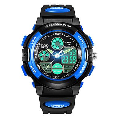 0f1463f8f3a3 SKMEI Reloj Deportivo Reloj Digital Cuarzo Cuero Sintético Acolchado Negro  30 m Resistente al Agua Despertador Calendario Analógico-Digital Moda Para  Niños ...