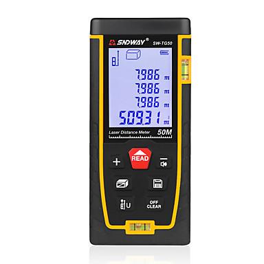 voordelige Waterpasinstrumenten-SNDWAY SW-TG50 50 Infrarood afstandsmeter Handheld / Handheld Design / Hoge kwaliteit voor slimme thuismeting / voor technische metingen / voor bouwconstructies