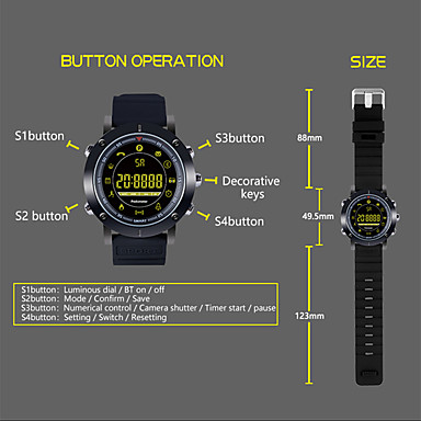 cheap Smartwatches-KUPENG EX19 Men Smartwatch Android iOS Bluetooth Smart Sports Waterproof Calories Burned Long Standby Timer Pedometer Call Reminder Activity Tracker Sleep Tracker / Sedentary Reminder / Alarm Clock