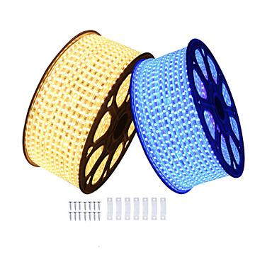 baratos Faixas de Luzes LED-KWB 6m Faixas de Luzes LED Flexíveis 360 LEDs SMD5050 1Setar o suporte de montagem Branco Quente / Branco / Vermelho Impermeável / Cortável / Decorativa 220-240 V 1conjunto
