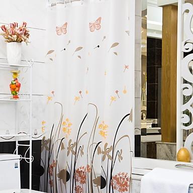 Suihkuverhot ja koukut Moderni Nonwoven Tyylikäs Kylpyhuone