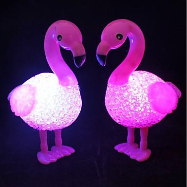 1kpl 3d flamingo yövalo valkoinen painike akkukäyttöinen joulujuhlat <5 V>
