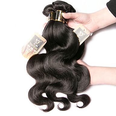 4 חבילות שיער מלזי Body Wave שיער אדםלא מעוב טווה שיער אדם שיער Bundle תוספות שיער משיער אנושי 8-28 אִינְטשׁ צבע טבעי שוזרת שיער אנושי איכות מעולה עבה תוספות שיער אדם