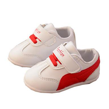 voordelige Babyschoenentjes-Meisjes Comfortabel / Eerste schoentjes PU Sneakers Zuigelingen (0-9m) / Peuter (9m-4ys) Zwart / Rood / Roze Herfst