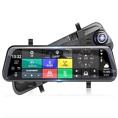 billige Bil-DVR-fullskjerm streaming media bakspeilet bil dvr 140 graders vidvinkel 10 tommers dash cam med wifi / gps / nattesyn bilopptaker