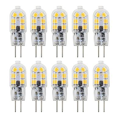 billige Elpærer-10pcs 3 W LED-lamper med G-sokkel 200-300 lm G4 T 12 LED perler SMD 2835 Smuk 12 V
