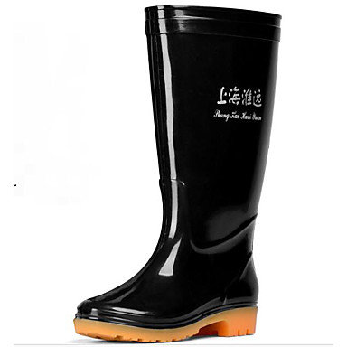 Men's Comfort Shoes PVC(Polyvinyl chloride) Spring Boots Mid-Calf Boots Black / Army Green / Outdoor