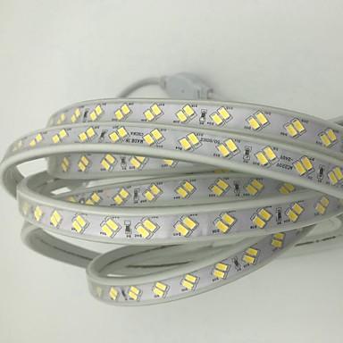 billige LED Strip Lamper-15m fleksible led lysstrimler 1800 leds 5730 smd varm hvit kald hvit vanntett kuttbar dekorativ 220-240 v 1pc