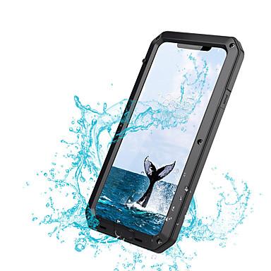 hesapli iPhone Kılıfları-Apple iphone xs xs için kılıf max darbeye dayanıklı toza su geçirmez tam vücut kılıfları katı renkli sert metal iphone xr x 8 için artı 7 artı 6 artı 6 s 6