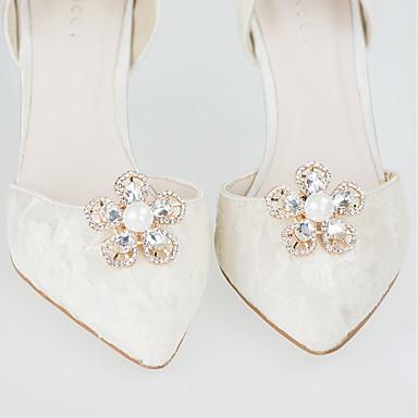 abordables Accessoires pour Chaussures-2pcs Polyester Ornement Femme Printemps Mariage / Quotidien Dorée / Argent
