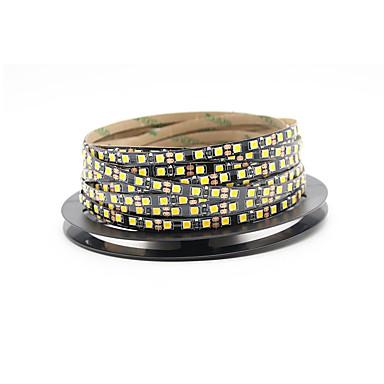 billige LED Strip Lamper-5 m Fleksible LED-lysstriper 600 LED 2835 SMD Varm hvit / Kjølig hvit Kuttbar / Selvklebende 12 V 1pc