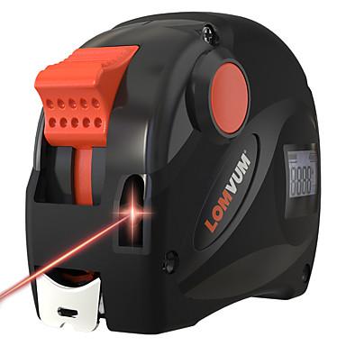 voordelige Waterpasinstrumenten-lomvum oplaadbare usb oplader meetlint 40m lcd digitale display laser afstandsmeter 5m digitale tape
