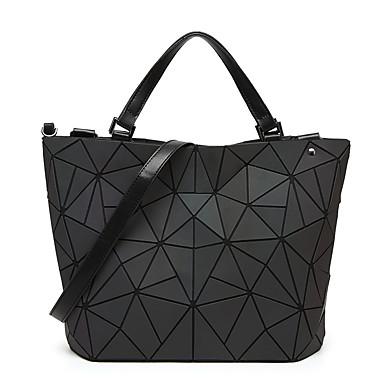 preiswerte Taschen-Damen Reißverschluss / Kette Tragetasche PU / Synthetik Einfarbig Schwarz