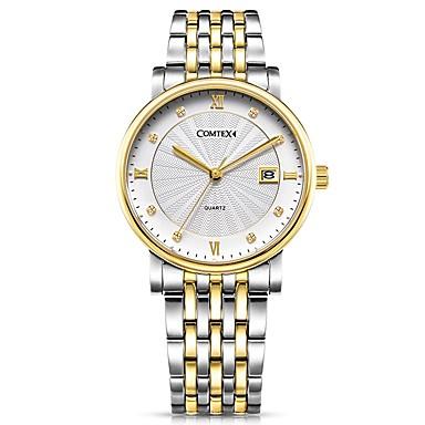 e33852700 COMTEX Women's Quartz Watches Fashion Gold Stainless Steel Quartz Gold  Water Resistant / Waterproof Calendar / date / day 1 pc Analog