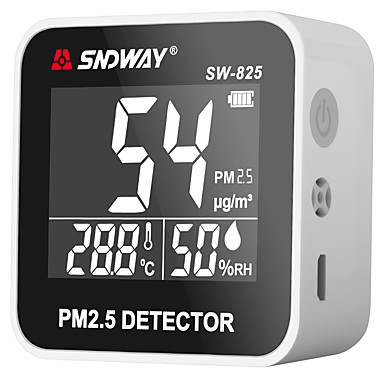 cheap Electrical & Tools-SW-825 Digital Air Quality Monitor PM2.5 Detector tester Gas monitor Gas analyzer Temperature humidity meter Diagnostic tool