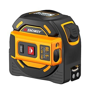 voordelige Waterpasinstrumenten-sndway laser afstandsmeter 60m tape afstandsmeter multifunctie zelfsluitende handtester gereedschapsapparaat sw-tm60