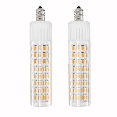 billige Elpærer-2pcs 7.5 W LED-kornpærer 937 lm E11 T 100 LED perler SMD 2835 Varm hvit Kjølig hvit 85-265 V