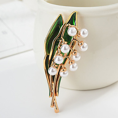 levne Dámské šperky-Dámské Klasika Brože Botanický motiv Levný Animák Sladký Módní Lidová Style Brož Šperky Zlatá Stříbrná Pro Promoce Dar Denní Karneval Festival