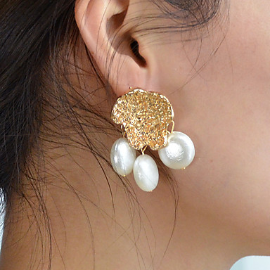 Fashion Jewelry The Cheapest Price Fashion Women Gift Gold Plated Romantic Zircon Pearl Drop Earrings Gl
