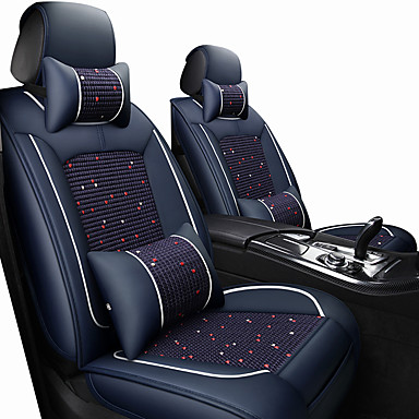 voordelige Auto-interieur accessoires-autostoelbekleding hoofdsteun& taillekussensets wijn / zwart / bruin polyesterweefsel / leer algemeen / handel voor universeel