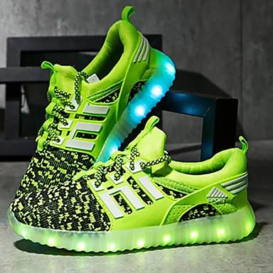 povoljno LED Cipele-Dječaci Tkanina Atletičarke tenisice Mala djeca (4-7s) / Velika djeca (7 godina +) Udobne cipele / Svjetleće tenisice LED Zelen / Navy Plava / Crvena Proljeće / Jesen / TPE (Termoplastični elastomer)