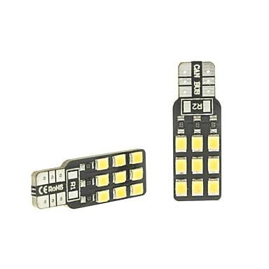SENCART 2pcs T10 Auto Lamput 2 W SMD 2838 180 lm 18 LED Rekisterikilven valo / Suuntavilkku / Työvalo Käyttötarkoitus Universaali Kaikki vuodet
