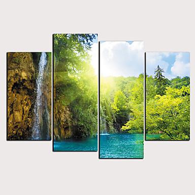abordables Toiles-Imprimé Impressions sur toile roulées - Paysage Saisons Classique Moderne Quatre Panneaux Art Prints