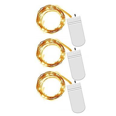 3kpl 2m merkkivalot 20 ledit smd 0603 lämmin valkoinen valkoinen monivärinen vedenpitävä puolue koriste-akkuja