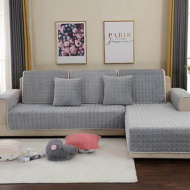 sohva tyyny Yhtenäinen / Moderni Quilted Villaflanelli slipcovers
