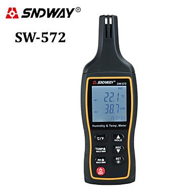 voordelige Test-, meet- & inspectieapparatuur-SNDWAY sw572 Draagbaar hygrometers -20-60(℃) Data Hold, Klok Alarmstijl
