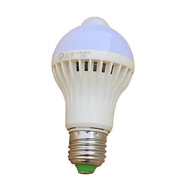abordables Ampoules électriques-1pc 7 W Ampoules Globe LED 410-510 lm E26 / E27 18 Perles LED Capteur infrarouge 220-240 V