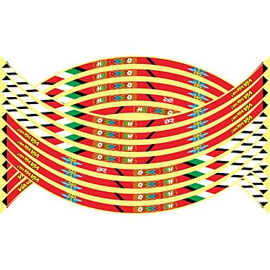 povoljno Automoto-16pcs novi 17/18/19 inčni moto reflektirajuća kotača glavica naljepnice auto dekori kotača naljepnice na styling automobila \ t