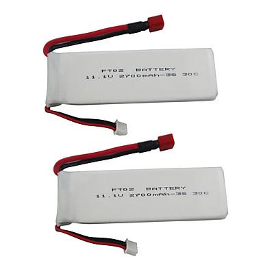 billige Droner og radiostyrte enheter-Feilun FT012 11.1V 2700mAh 2pcs batteri