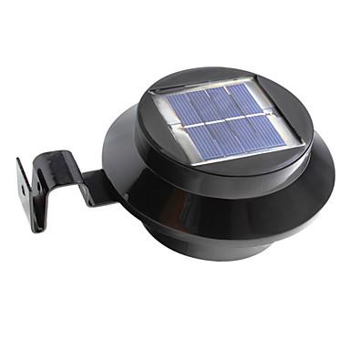 billige Utendørsbelysning-1pc 1 W Solar Wall Light Vanntett / Solar / Dekorativ Varm hvit / Kjølig hvit 2 V Utendørsbelysning / Svømmebasseng / Courtyard 3 LED perler