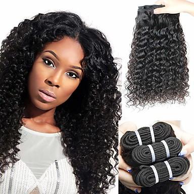 baratos Extensões de Cabelo Natural-6 pacotes Cabelo Brasileiro Onda Profunda 100% Remy Hair Weave Bundles Cabelo Humano Ondulado Cabelo Bundle Um Pacote de Solução 8-28inch Côr Natural Tramas de cabelo humano Recém nascido Cascata