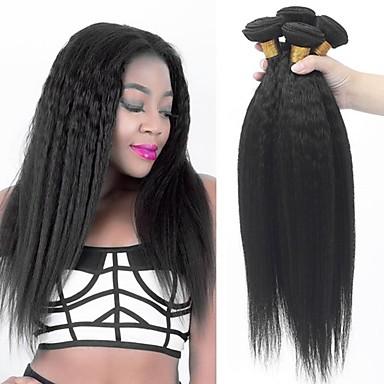 voordelige Weaves van echt haar-3 bundels Braziliaans haar YakiRecht 100% Remy haarweefselbundels Menselijk haar weeft Bundle Hair Extentions van mensenhaar 8-28 inch Natuurlijke Kleur Menselijk haar weeft nieuwe collectie Cool