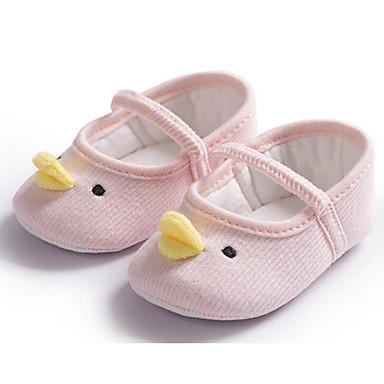 voordelige Babyschoenentjes-Meisjes Katoen Platte schoenen Zuigelingen (0-9m) Comfortabel / Eerste schoentjes Wit / Grijs / Roze Lente